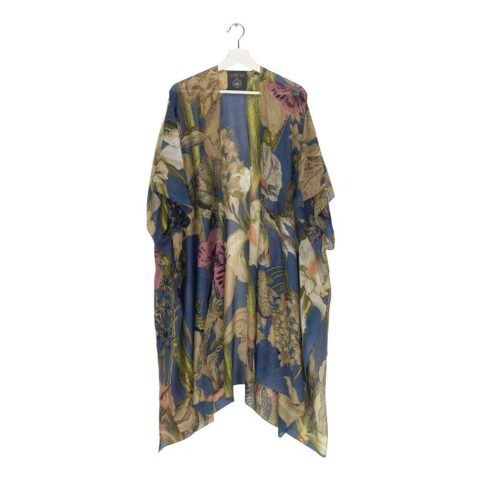 Kew Iris Blue Throw Over from One Hundred Stars - Purchase online with free UK delivery
