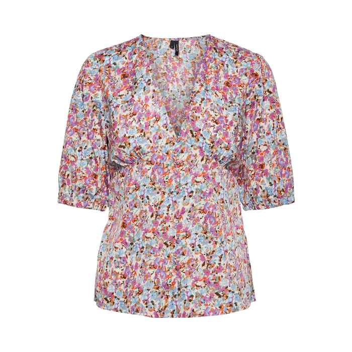 Vero Moda Fitted Floral Top - Get Free Delivery When You Purchase Online And Spend Over £20