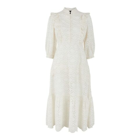 YAS Broderie Anglaise Dress - Perfect for any occasion. Buy online with free UK delivery