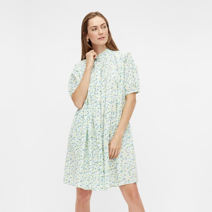 YAS Floral Shirt Dress Made From Organic Cotton - Buy Online With Free UK Delivery Over £20