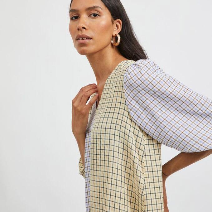 Vila Casual Check Dress - Buy Online UK