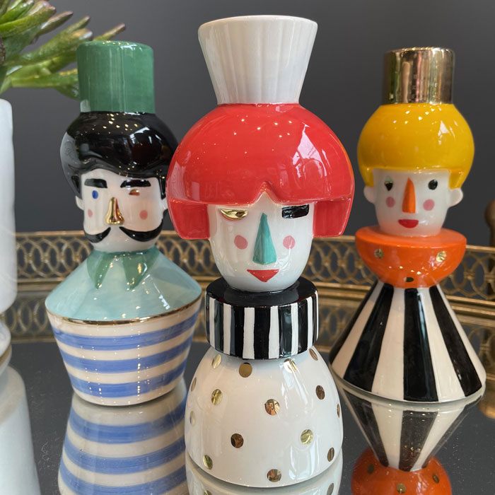 Ceramic Puppet Candle Holder - Buy Online UK
