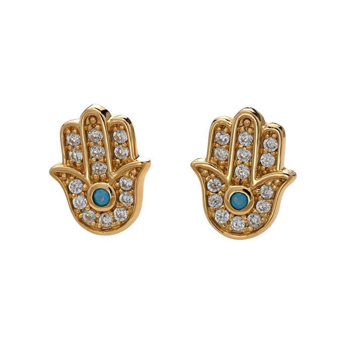 Gold Hand Fatima Earrings - Buy Online