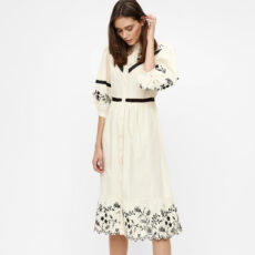 Cream Summer Embroidery Dress - Buy online UK