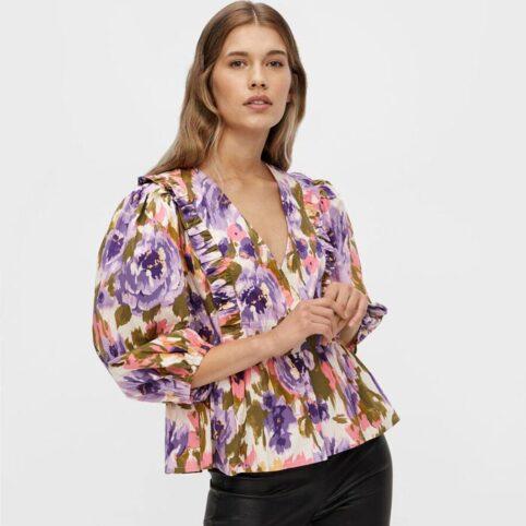 Floral Wrap Blouse YAS - Buy Online UK
