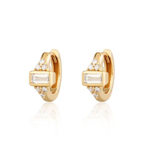 Crystal Gold Huggies - Buy Online UK