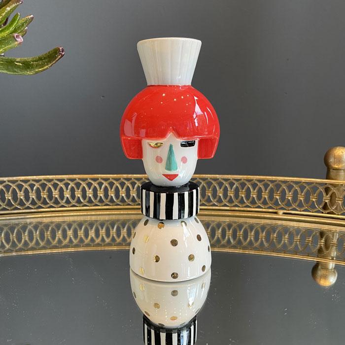 Ceramic Puppet Candlestick Holder - Buy Online UK