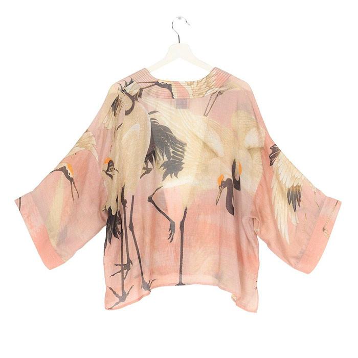 Stork Pink Short Kimono - Buy Online UK
