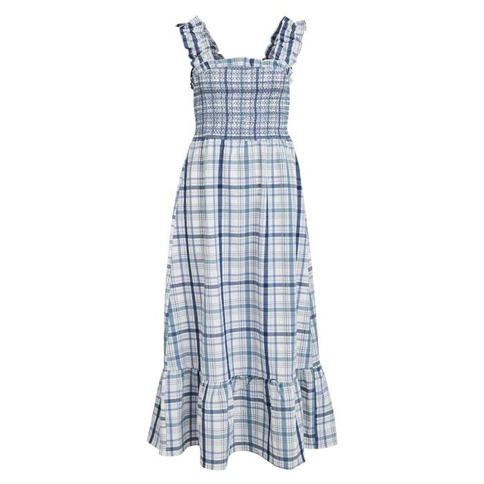 Sleeveless Maxi Dress Check Print - Buy Online UK