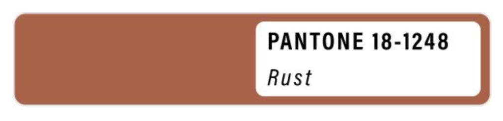 Summer 2021 Panton colour palette rust colours