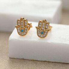 Hand of Fatima Earrings - Buy Online UK