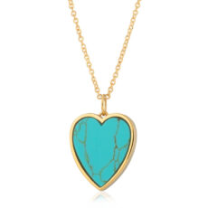 Turquoise Heart Necklace - Buy Online UK