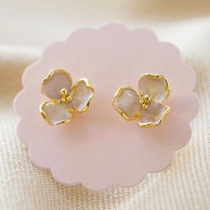 Flower Stud Earrings - Buy Online UK