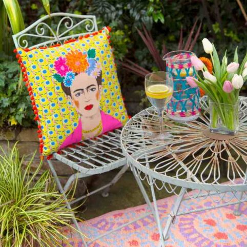 Frida Kahlo Cushion - perfect for anywhere in the house or garden. For sale online with free UK delivery
