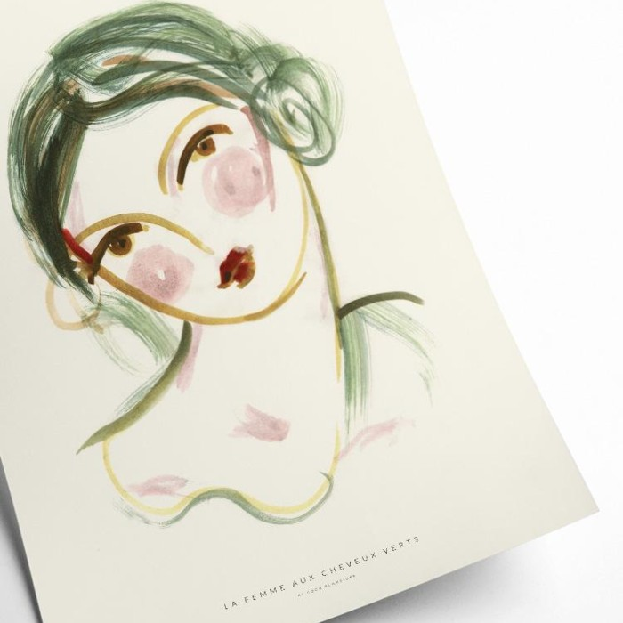 Rosy Cheeks print - perfect for the bedroom or a gallery wall. Buy online UK