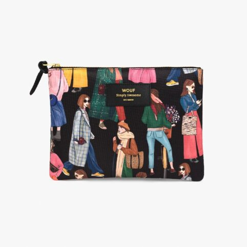 Wouf Girls Large Pouch - Recycled Fabric. Buy Online UK
