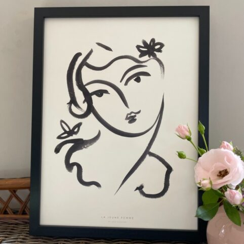 Pretty Face Wall Print - Framed. Buy Online With Free Delivery