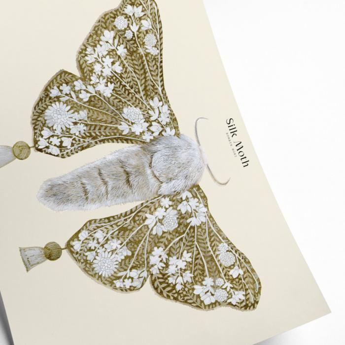 Retro Inspired Moth Framed Print - Buy Online UK