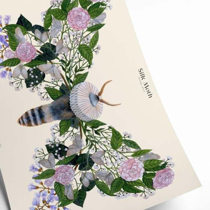 Silk Moth Framed Art Print - Buy Online UK