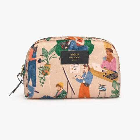 Wouf Cozy Makeup Bag - made From Recycled Fabric. Free UK Delivery When Purchase Online