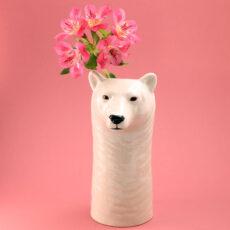 Quail Ceramics Vase Polar Bear - Free UK Delivery Online