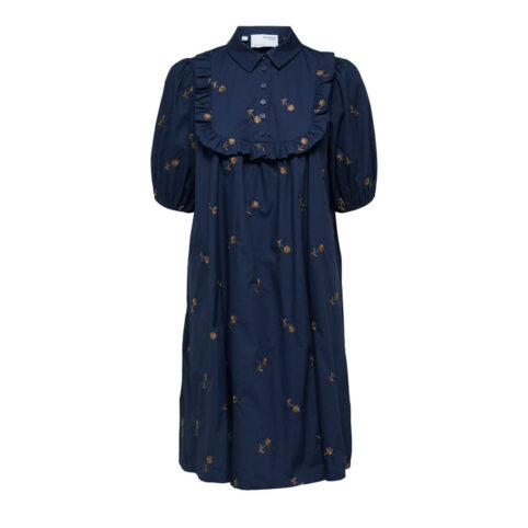 Selected Femme Embroidered Flower Dress - For Sale Online UK