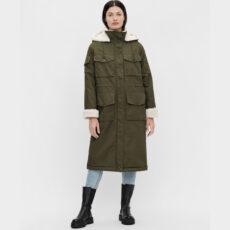 Object Khaki Long Coat - Buy Online UK