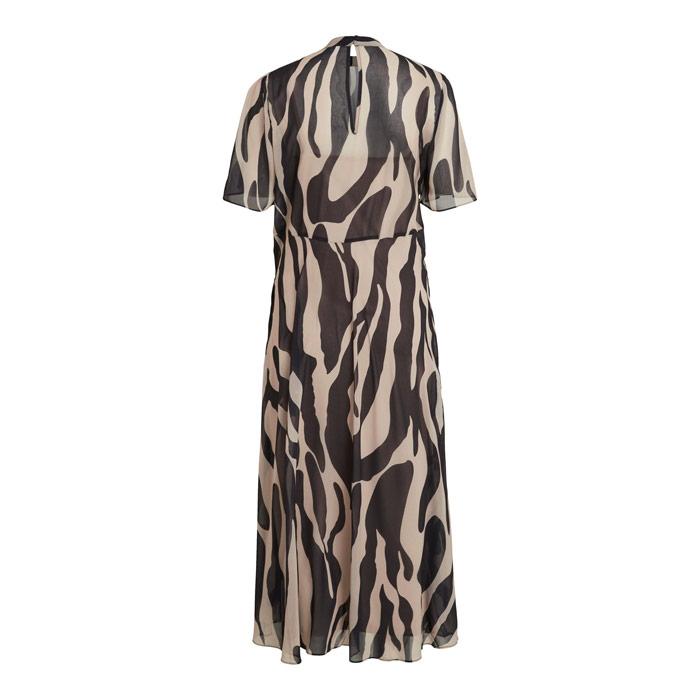 Vila zebra print tea dress - back view buy online uk