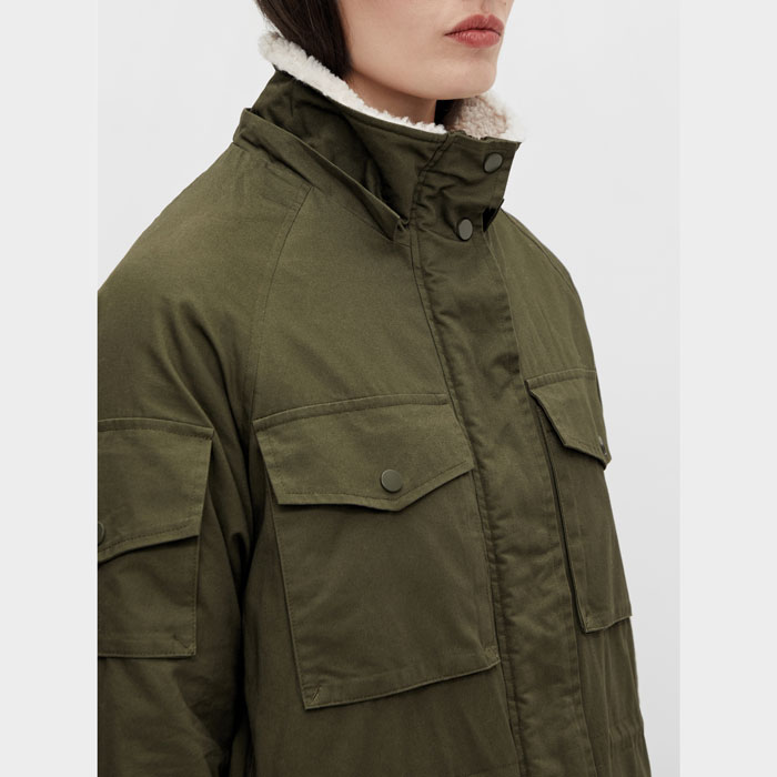 khaki long coat - purchase online with free delivery