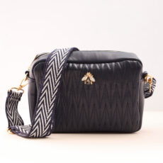 Navy Faux Leather Crossbody Bag - Buy Online UK
