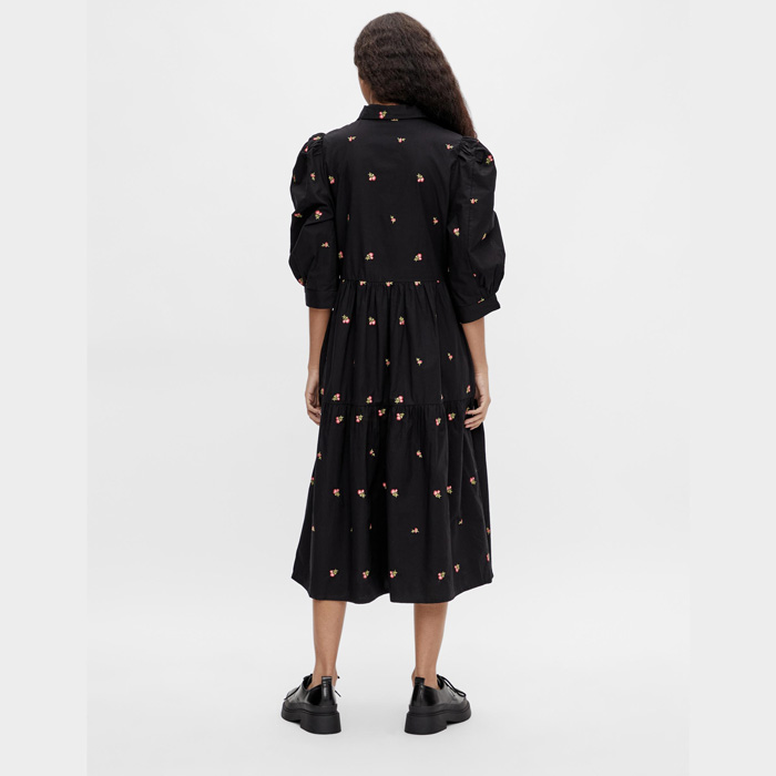 Object dress with embroidered flowers- purchase online with free UK delivery