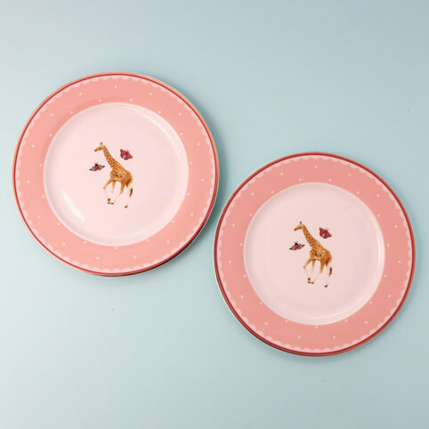 Giraffe side plates -set of 2. Free UK delivery when you purchase online