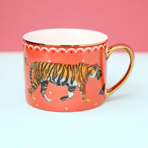 Gold Handle Tiger mUG - Buy Online UK